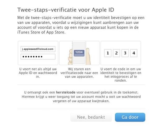 Apple-2-staps-verificatie