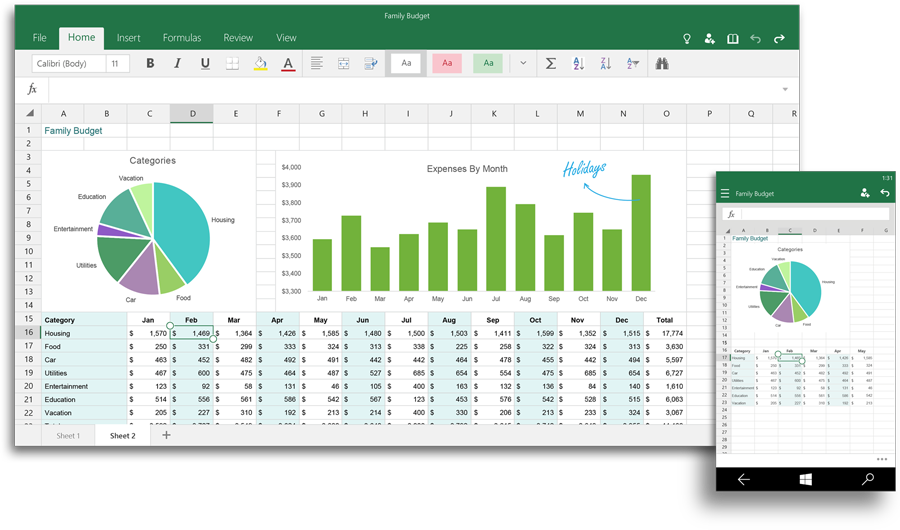 Excel in Office 2016