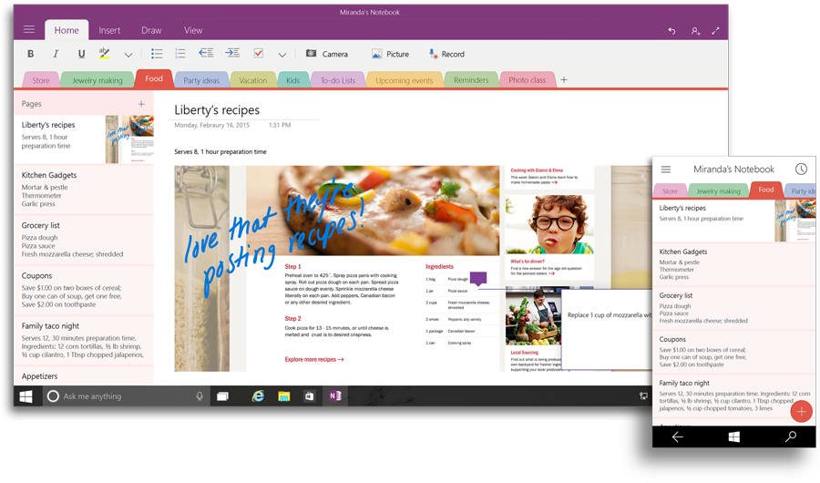OneNote in Office 2016