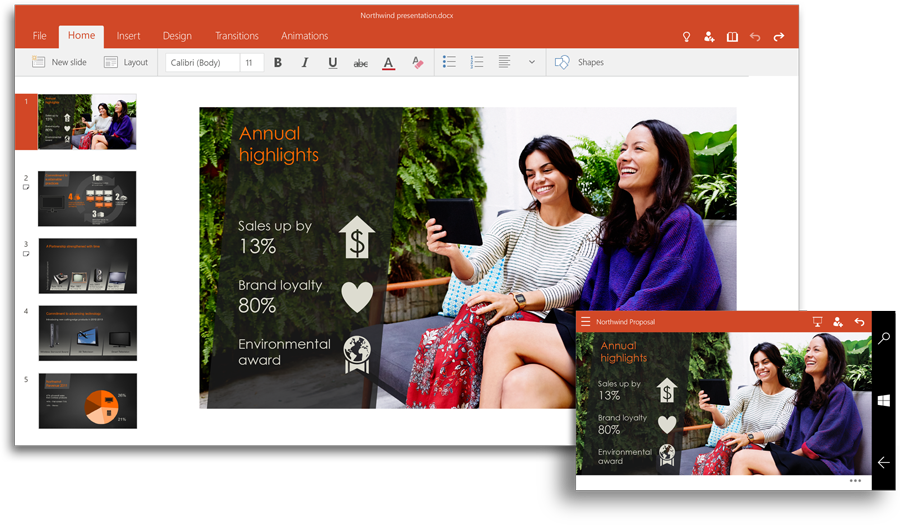 PowerPoint in Office 2016