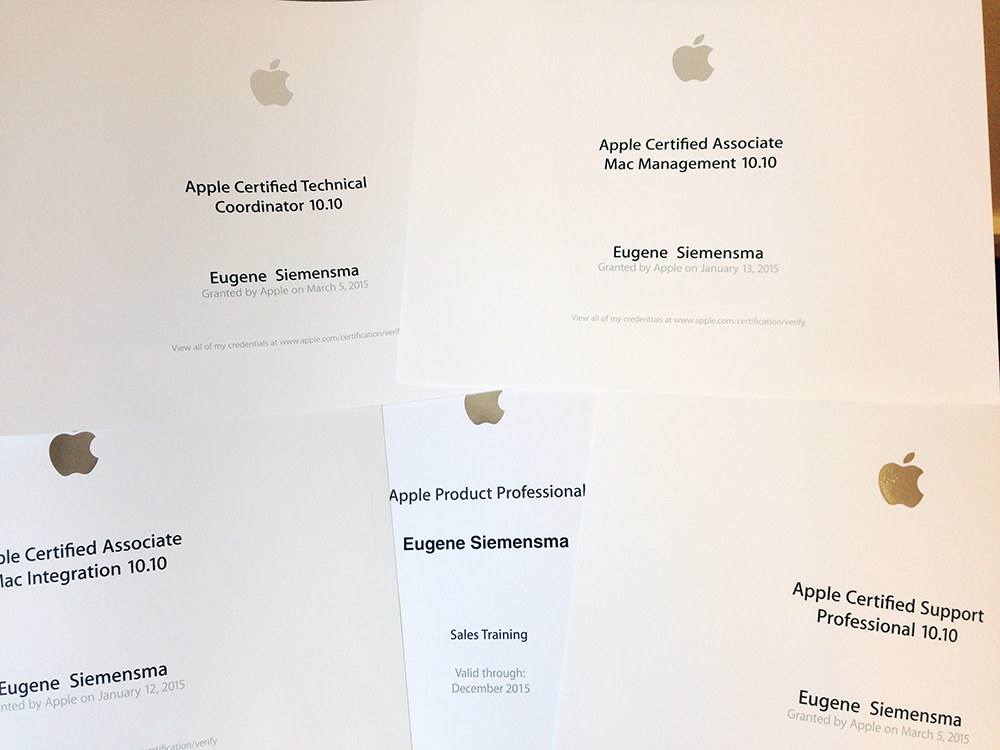 Apple certificering ACTC