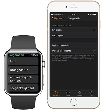 Apple Watch instellingen Brisk ICT