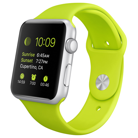 Brisk groene Apple Watch